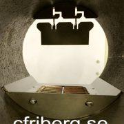 Roster Viking Bio pelletsbrännare monterad i brännarröret